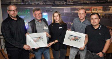 Auf dem Foto (von links nach rechts): Kai Jorzyk (Projektleitung Popp Concerts), Wolfgang Esser (Geschäftsführer MVG Trier mbH), Kristin Schon (Projektleitung MVG Trier mbH), Arnd Landwehr (Geschäftsführer MVG Trier mbH), Oliver Thome (Geschäftsführer Popp Concerts)